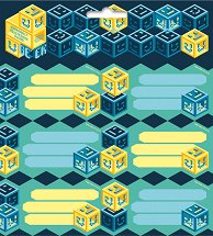 Етикети за тетрадки - Geek - Комплект от 18 броя - раница