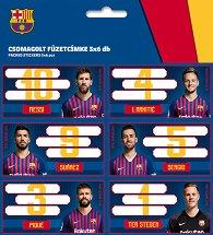 Етикети за тетрадки - ФК Барселона - Комплект от 18 броя -