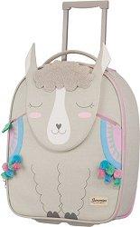 Детски куфар на колелца - Лама - продукт