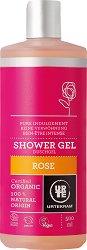 """Urtekram Rose Pure Indulgement Shower Gel - Био душ гел с екстракт от роза от серията """"Rose"""" - шампоан"""