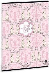 Ученическа тетрадка - Rabbits : Формат А4 с широки редове - 40 листа -