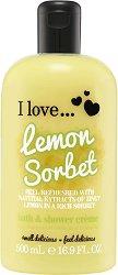 I Love Lemon Sorbet Bath & Shower Cream - Душ крем и пяна за вана с аромат на лимоново сорбе -