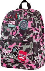 Ученическа раница - Cross: Camo Pink Badges - несесер