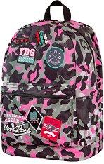 Ученическа раница - Cross: Camo Pink Badges - раница