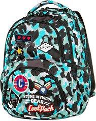 Ученическа раница - Dart: Camo Blue Badges - продукт