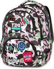 Ученическа раница - Dart: Camo Pink Badges - раница