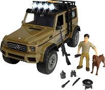 """Рейнджър с джип - Mercedes-Benz G 500 - Комплект за игра със звуков и светлинен ефект от серията """"Playlife"""" -"""
