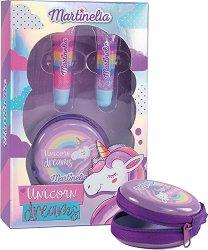 Детски подаръчен комплект - Unicorn Dreams - С два гланца за устни и портмоне - продукт
