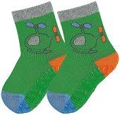 Детски чорапи със силиконово стъпало -