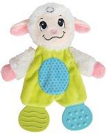 """Агънце - Мека бебешка играчка с дрънкалка и дъвкалки от серията """"ABC"""" - кукла"""