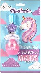 Детски подаръчен комплект - Dream Big & Believe In Magic - Балсам за устни и лак за нокти -