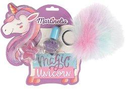 Детски подаръчен комплект - Magic Unicorn - Гланц за устни и лак за нокти -