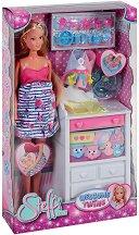 """Стефи бременна с близнаци - Кукла с аксесоари от серията """"Steffi Love"""" - кукла"""