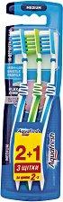 Aquafresh In Between Clean Trio Pack - Medium - Комплект от 3 броя четки за зъби -
