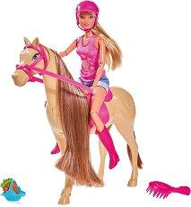 """Стефи на езда - Комплект за игра с аксесоари от серията """"Steffi Love"""" - кукла"""