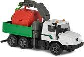 """Камион с контейнер - Mercedes-Benz Zetros - Метална количка от серията """"City"""" -"""