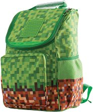 Ученическа раница - Minecraft - Комплект с аксесоар за декорация -