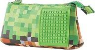 Ученически несесер - Minecraft - Комплект с аксесоар за декорация - раница
