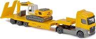"Камион Mercedes-Benz Actros и верижен багер Liebherr Excavator R936 - 2 метални играчки от серията ""Construction"" -"