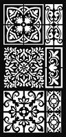 Шаблон - Орнаменти - Размер 12 x 25 cm