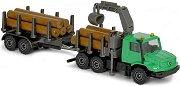 """Камион за дърва - Mercedes-Benz Zetros - Метална играчка от серията """"Farm"""" -"""