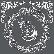 Шаблон - Завъртяни орнаменти - Размер 18 x 18 cm