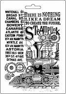 Шаблон - Влак и надписи - Размер 14.8 x 21cm