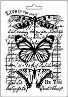 Шаблон - Пеперуди и надписи - Размер 14.8 x 21cm