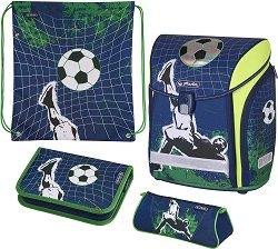 Ученическа раница - Midi: Kick It - Комплект с 2 несесера и спортна торба - несесер
