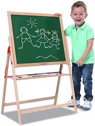 Магнитна дъска за писане със стойка - играчка