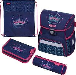 Ученическа раница - Loop: Crown - Комплект с 2 несесера и спортна торба - детски аксесоар