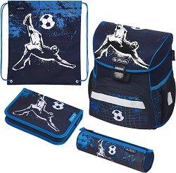 Ученическа раница - Loop: Kick It - Комплект с 2 несесера и спортна торба - продукт