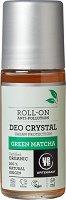 """Urtekram Green Matcha Anti-Pollution Roll-On Deo Crystal - Био ролон дезодорант с екстракт от зелен чай от серията """"Green Matcha"""" - продукт"""
