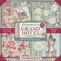 Хартии за скрапбукинг - Гранд хотел - Комплект от 22 броя с размер 30.5 х 30.5 cm