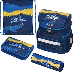 Ученическа раница - Loop: Jet - Комплект с 2 несесера и спортна торба -