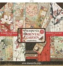 Хартии за скрапбукинг - Ориенталска градина - Комплект от 10 броя с размер 30.5 х 30.5 cm