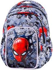 Ученическа раница с LED светлини - Spark L: Spiderman Denim - продукт