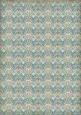 Декупажна хартия - Орнаменти на цветя - Формат А3