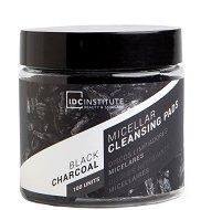 IDC Institute Black Charcoal Micellar Cleansing Pads - Мицеларни тампони за почистване на грим с активен въглен в опаковка от 100 броя - маска