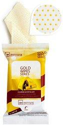 IDC Institute Cleanse & Exfoliate Golde Wipes - Почистващи и ексфолиращи мокри кърпички за лице с колоидно злато -