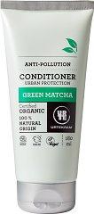 """Urtekram Green Matcha Anti-Pollution Conditioner - Био балсам за коса с екстракт от зелен чай от серията """"Green Matcha"""" - пяна"""