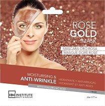 IDC Institute Rose Gold Mask - Хидратираща лист маска за лице против бръчки с хиалуронова киселина -