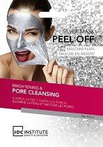 IDC Institute Silver Peel Off Mask - Отлепяща се маска за лице с морска сол, колаген и алое - крем