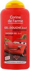"""Corine de Farme Cars Extra Gentle Shower Gel 2 in 1 - Детски душ гел за коса и тяло от серията """"Колите"""" - душ гел"""
