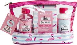 IDC Institute Pink Paradise - Подаръчен комплект с козметика за тяло -