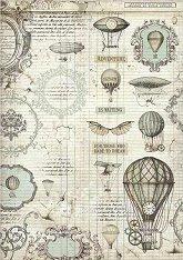 Декупажна хартия - Летящи балони - Формат А3