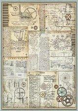 Декупажна хартия - Колела с надписи - Формат А3