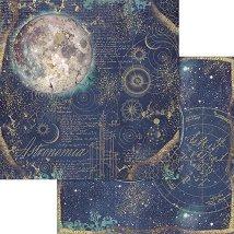 Хартии за скрапбукинг - Луна