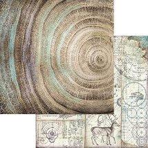 Хартии за скрапбукинг - Годишни дървени пръстени