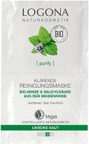Logona Clarifying Cleansing Mask - Дълбоко почистваща маска за лице с био мента -